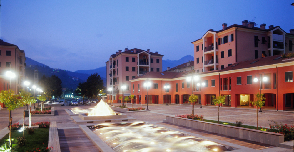 New town centre and urban square, Casarza Ligure, Genoa